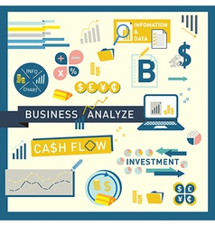 Money finance Business Analyze icon design vector image vector image
