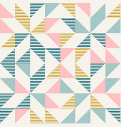 Abstract geometry in retro colors diamond shapes vector