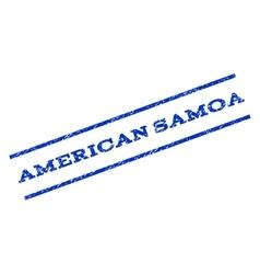 American Samoa Watermark Stamp vector image