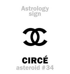 Astrology asteroid circe vector