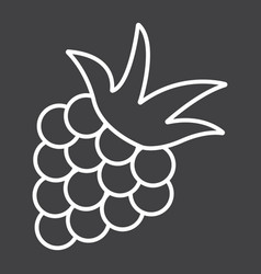 blackberry line icon fruit and diet vector image