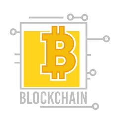 blockchain virtual financial system and banking vector image