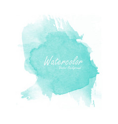 blue watercolor background template vector image