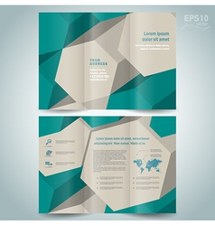 brochure design template dimensional 3d vector image vector image