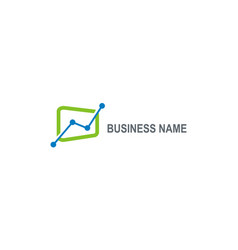 Business finance grow logo vector