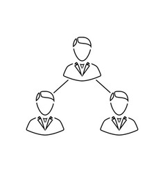 business team icon vector image