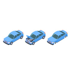 car isometric car repair vector image