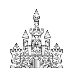 Castle coloring book for adults vector image