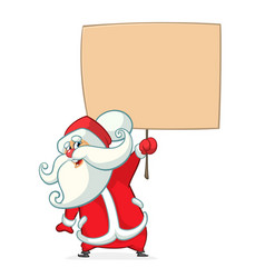 christmas cartoon of funny santa vector image