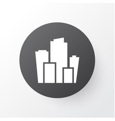 city icon symbol premium quality isolated vector image