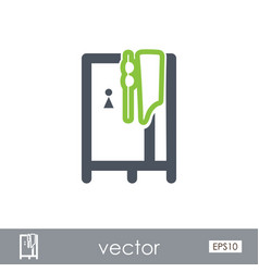 Cloakroom on the beach icon summer vacation vector
