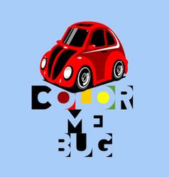 Color me bug vector