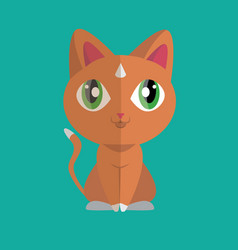 cute cat flat styling vector image