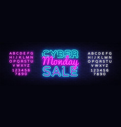 cyber monday discount sale concept vector image