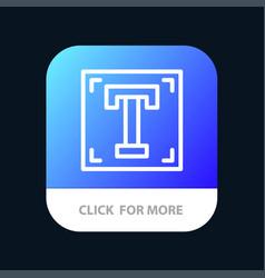 Designer font path program text mobile app button vector