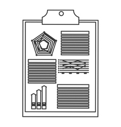 diagram and clipboard icon vector image
