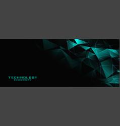 Digital low poly technology banner design vector