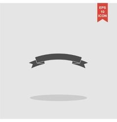 Flat ribbon icon vector image