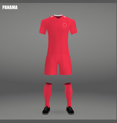 football kit of panama 2018 t-shirt template for vector image