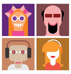 four avatars vector image vector image