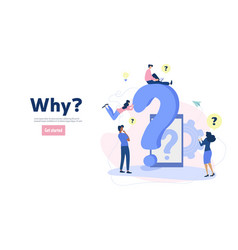 Frequently asked questions concept vector