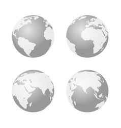 globe icon earth symbol vector image