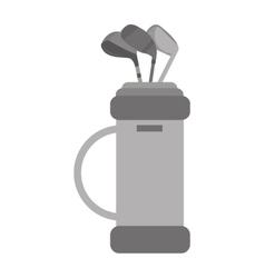 golf clubs bag equipment icon vector image