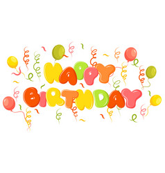 happy birthday banner a vector image