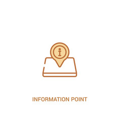 Information point concept 2 colored icon simple vector