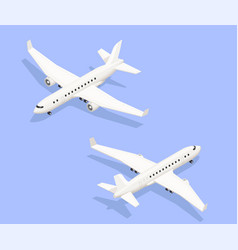 isometric jet airplanes composition vector image