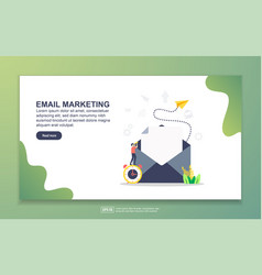 landing page template email marketing modern vector image