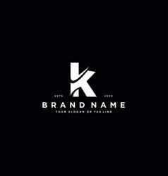 Letter k logo design vector