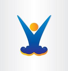 Letter v victory symbol celebration vector