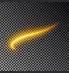 Light line effect gold glowing fire vector