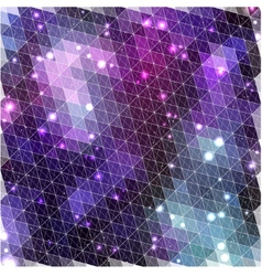 Lilac glowing pattern of triangle shapes vector image
