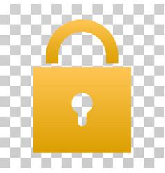 Lock gradient icon vector