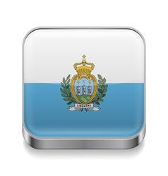 Metal icon of San Marino vector image