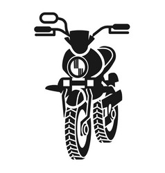 Moped in perspective icon simple style vector