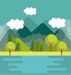 Mountain landscape design vector