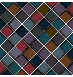 Multicolored structure of squares vector image