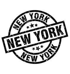 new york black round grunge stamp vector image