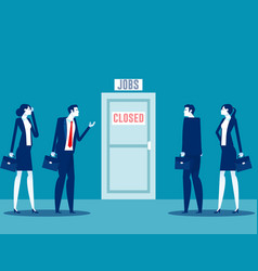 people talking about business closure team fired vector image