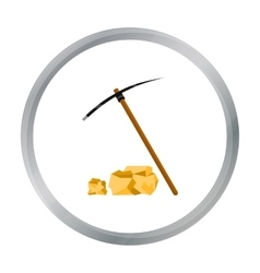 Pickaxe icon cartoon Singe western icon from the vector