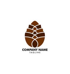 Pinecone logo design template vector