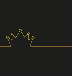 Royal and king crown line style vector