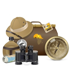 Safari Accessories Concept vector