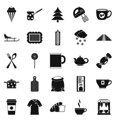 Saloon icons set simple style vector