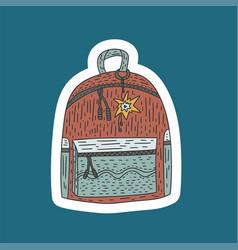 schoolbag doodle vector image