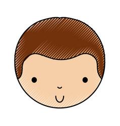 Scribble cute little boy vector