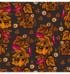Seamless Autumn Floral Background vector image